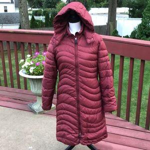Patagonia long goose down puffer jacket